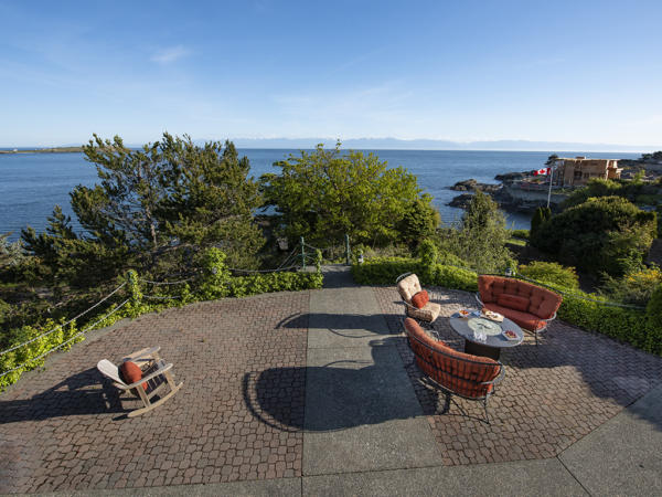 specious patios of ocean front home