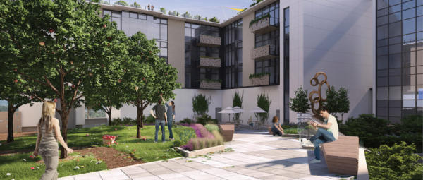 The Wade courtyard rendering