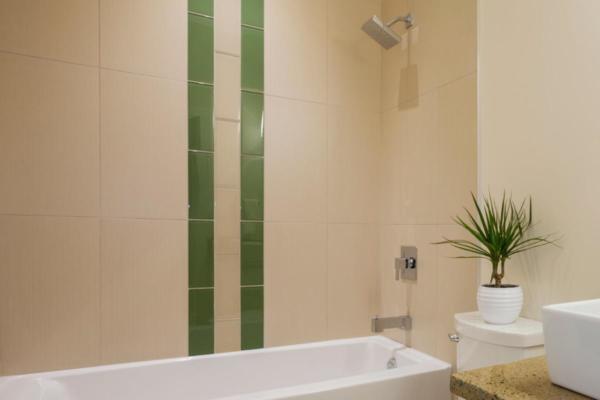 Bathroom rendering at the Wade