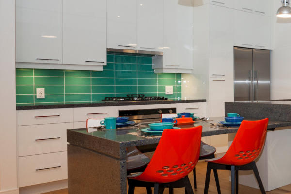 Kitchen rendering at the wade